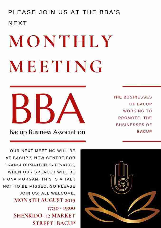 Bacup Business Association August Meeting