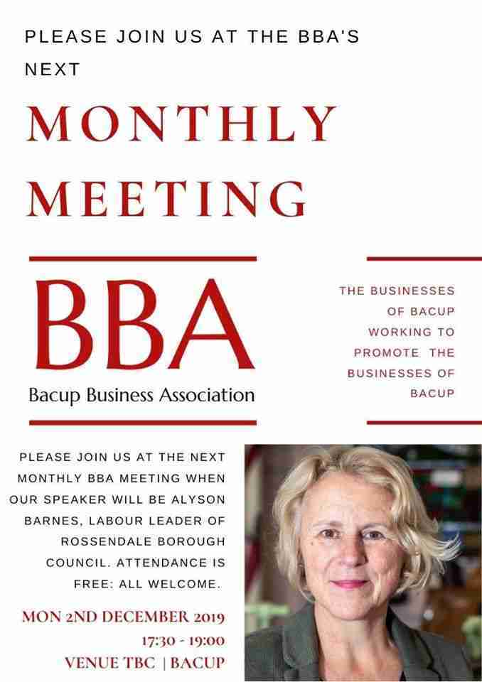 Bacup Business Association December Meeting